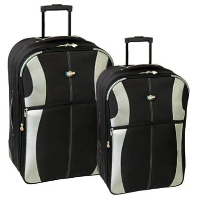 Karabar Set of 26 & 22 Inch Super Lightweight Suitcases (Black/Silver) by Karabar