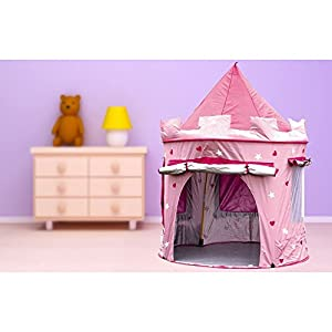 KiddyPlay Deluxe Pink Pop-Up Castle Play Tent by KiddyPlay