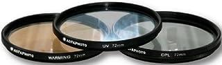 AGFA 3-Piece Professional Filter Kit 72mm - Ultraviolet (UV) + Circular Polarizor (CPL) + Warming Intensifier APFTK72