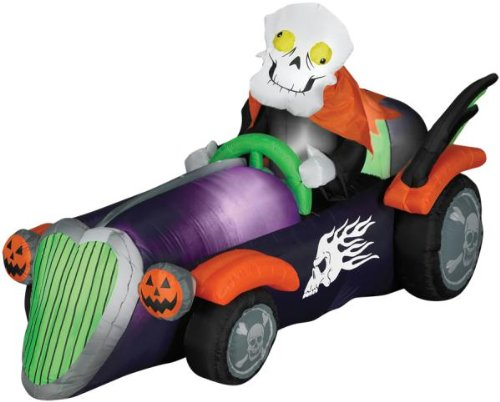 Gemmy Halloween Airblown Inflatable Skelly Racer front-519629