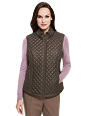 Classic Herringbone Quilted Gilet with Stormwear™