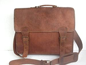 Passion leather 16 Inch Handmade Leather Bag Office Bag Laptop Bag Satchel Messenger Bag from Passion Leather