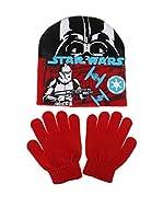 Star Wars Conjunto Gorro y Guantes Storm Trooper (Rojo)