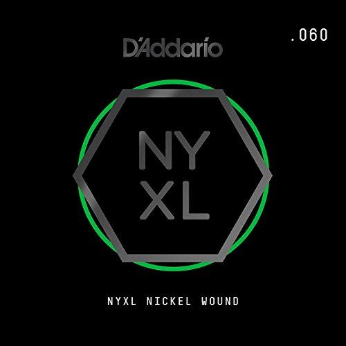 D'Addario Nyxl Nickel Wound Electric Guitar Single String, .060