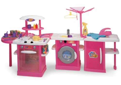 Wooden toy kitchen huge kids electronic pretend play toy for Electronic kitchen set