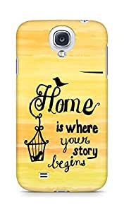AMEZ home is where your story begins Back Cover For Samsung Galaxy S4