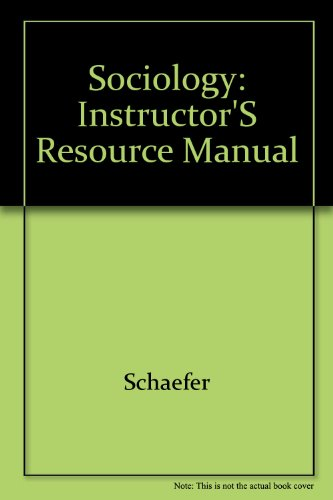 Sociology: Instructor's Resource Manual