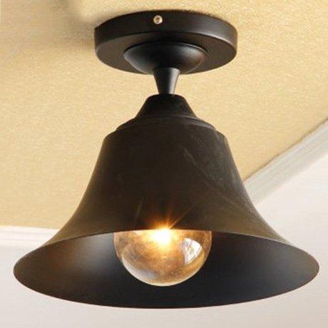 PinWei_ Villaggio e moderna sala da pranzo sala da pranzo cucina disimpegno cameretta ferro lampada da soffitto , matte black with tungsten lamp _PinWei