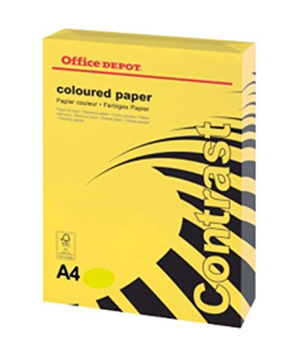 office-depot-a4-intense-yellow-coloured-card-160gsm-500-sheets-2-reams