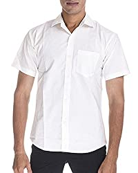 Venga Men's Button Front Shirt (RH006, White, M)