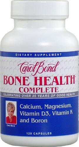Carol Bond Bone Health Complete With Calcium, Magnesiu, Vitamin D3, Vitamin K And Boron 120 Capsules