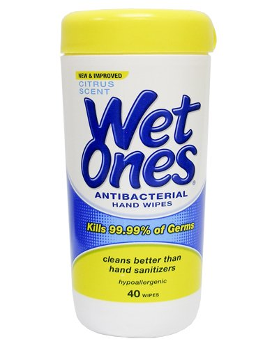 Wet Ones Antibacterial Hand Wipes - Citrus: 40 Count Canister front-648307
