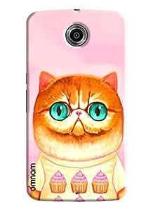 Omnam Cat Wearing Tshirt Of Ice Cream Printed Designer Back Cover Case For Google Nexus 6