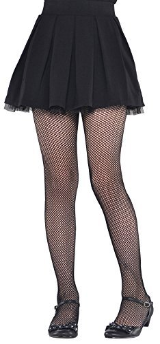 Black Fishnet Kids Tights - Child S/M