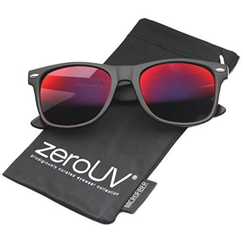 a6f9ae6585 zeroUV ZV-8025-01 Wayfarer Sunglasses, Black, 58 mm