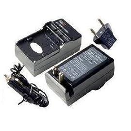 SAVEON'S Nikon EN-EL8 Replacement Battery Charger for Nikon Coolpix P1 P2 S3 S5 S50 S51 S52C S50 S50C Digital Cameras (With Car & EU adapters)