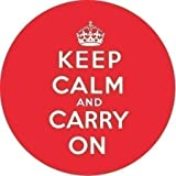 Button Mirror - Keep Calm And Carry On