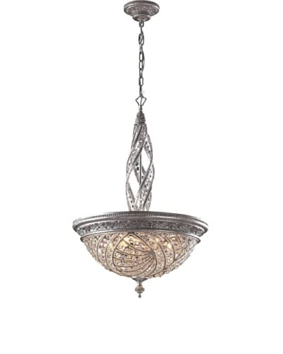 Artistic Lighting Renaissance 6-Light Pendant Ceiling Fixture, Sunset Silver