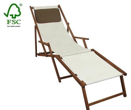 Sonnenliege Gartenliege Deckchair Saunaliege inkl. abnehmbarem Fußteil und Kopfstütze günstig online kaufen