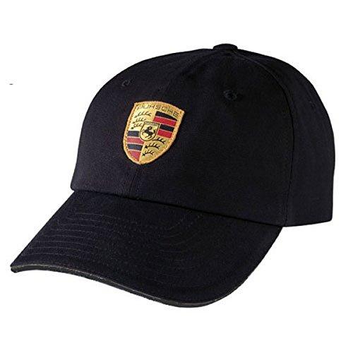 Porsche Black Crest Logo Cap, Official Licensed (Officials Cap compare prices)