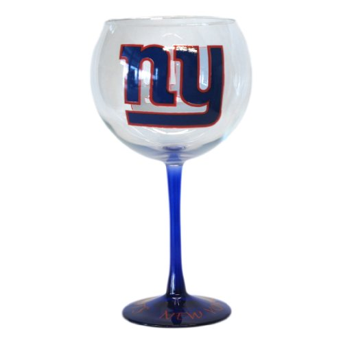 NFL New York Giants Hand-Crafted Balloon Wine Glass, 20-Ounce at Amazon.com