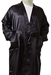 Men's Satin Robes with Front Pockets, Up2date Fashion Style-Gwn51