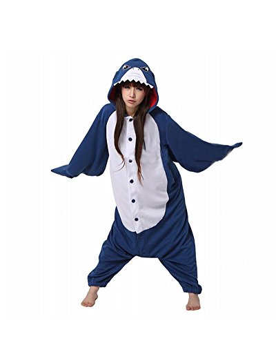 Keral Kigurumi Pajamas Adult Anime Cosplay Halloween Costume Outfit Shark M