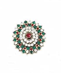Trinketbag Oval we go brooch Multi colour for women