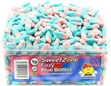SweetZone 100% Halal Jelly Sweets - Fizzy Blue Bottles 1KG Bag