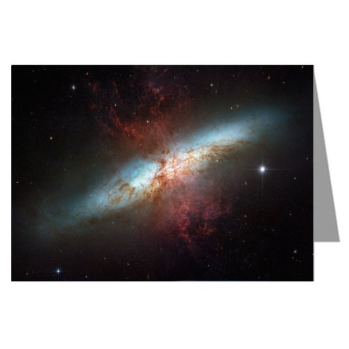 Six Greeting Cards Of This Starburst Galaxy M82 With Hundreds Of Thousands Of Stars, From Nasa Hubble Telescope And European Space Agency