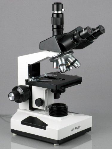 Imagen de 40X-2000X AmScope microscopio compuesto trinocular + 10 MP cámara Compatible w / Windows y Mac OS 10