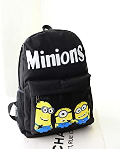 Fasion Cartoon Minions Nylon Unisex Students Schoolbag Shoulders Bag Preppy Style Backpack