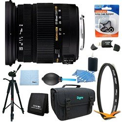 Sigma 17-50mm f/2.8 EX DC OS HSM FLD Standard Zoom Lens for Canon DSLR Lens Kit Bundle