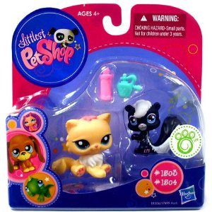 Picture of Hasbro Littlest Pet Shop 2010 Exclusive Collectible Figure Kitten Skunk (B0042GG71E) (Hasbro Action Figures)