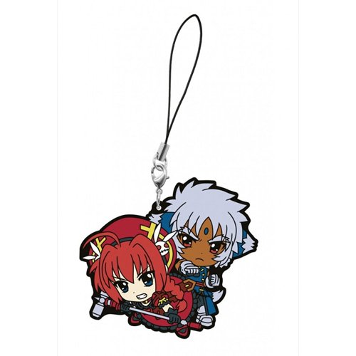 What lottery premium Magical Girl Lyrical most The MOVIE 2nd A's second bullet F award rubber strap Vita & Zafira (japan import) - 1