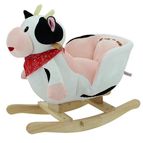 SweetyToys 3563 Schaukeltier Schaukelpferd Kuh