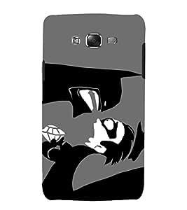 printtech Superhero Gotham Bat Back Case Cover for Samsung Galaxy E7 / Samsung Galaxy E7 E700F