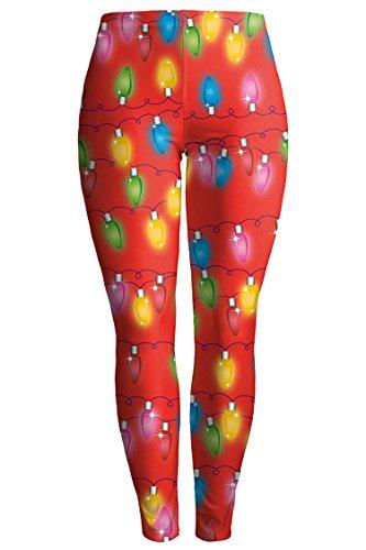 Pink Queen Women Colorful 3D Printed Full Length Leggings Tights Pants