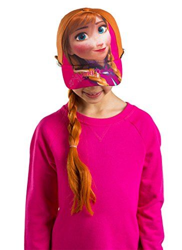 Disney Frozen Anna Girls Baseball Cap with Hair Wig Costume Hat