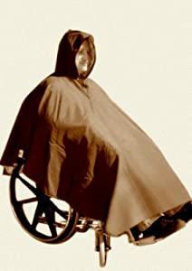 Warm Winter Lined Poncho for Wheelchair Users (Brown)