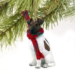 Fox Terrier Brown & White Miniature Christmas Ornament