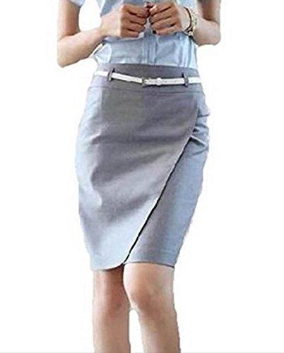 シンプル ラップ タイトスカート ベルト付き ミディ丈 通勤 OL 春 夏 オフィスカジュアル