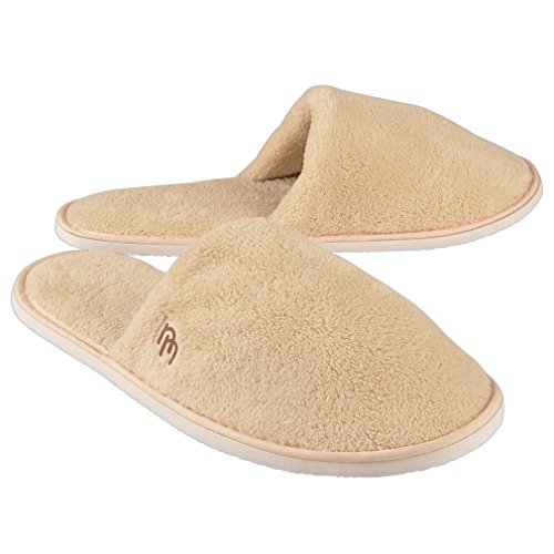 6pk Woodland Closed Toe Coral Fleece Slipper (Large) (Slippers Hotel compare prices)