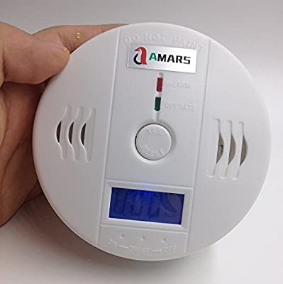 AMARS Intelligent 2 Pack CO Carbon Monoxide Alarm Detector Poisoning Gas Fire Sensor Equipment Warning Monitor Home Office Safety Device Tools from AMARS