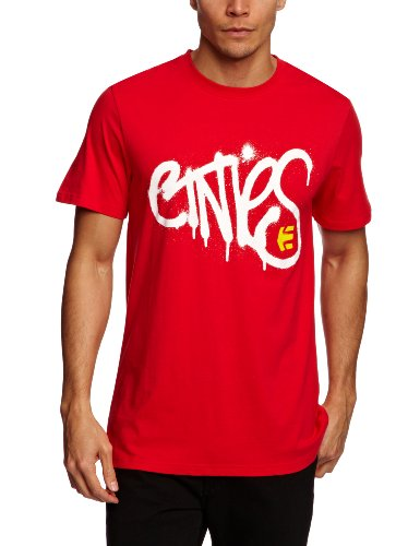 Etnies Sprayed Shortsleeve Printed Men's T-Shirt Red Large