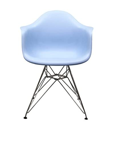 Macer Home Wire Arm Chair, Blue