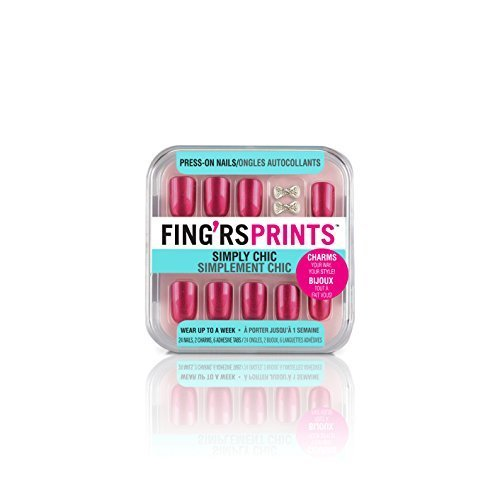 Fing'rs Prints Simply Chic Press-On Nails, Look Polished, 26 count by Fing'rs