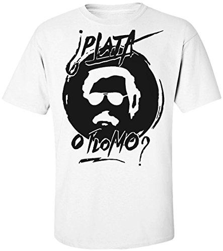 pablo-escobar-plata-o-plomo-mens-t-shirt-medium