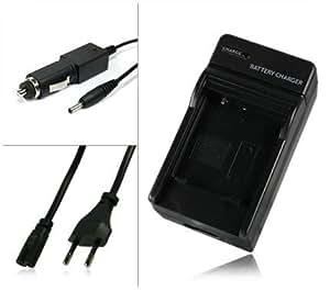 M&L Mobiles® | Chargeur de batterie [ secteur + voiture ] LP-E8 LPE8 pour Canon EOS 550D | EOS 600D | EOS Rebel T2i | EOS Rebel T3i