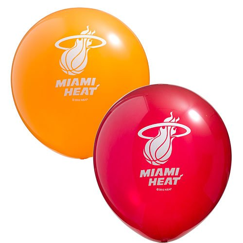 Miami HeatTM Latex Balloons - 6 Pkg